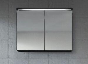Bathroom Mirror Cabinet Paso 80cm Black