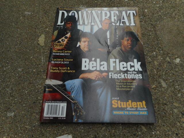 OCT 2003 DOWN BEAT Vintage JAZZ Music Magazine BELA FLECK