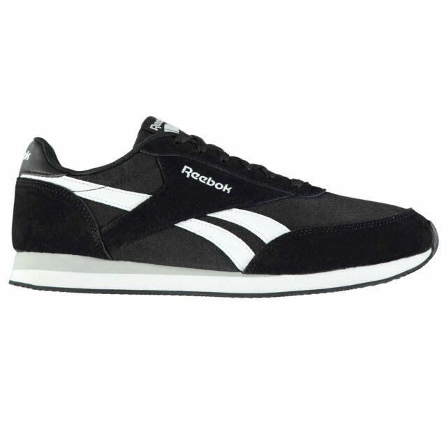 f647e45f3e21c Reebok Classic Jogger Trainers Mens Black White Sports Shoes Sneakers
