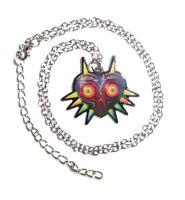 The Legend Of Zelda Majora's Mask Necklace W Chain Link Video Game Majoras Charm