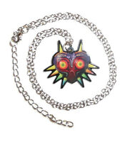 The Legend Of Zelda Majora's Mask Necklace W Chain Link Video Game Majoras Charm
