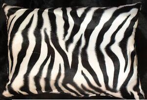 Zebra-Pillow-Shams-Standard-Queen-or-King-Faux-Fur-Pillow-cases-Set-Of-2