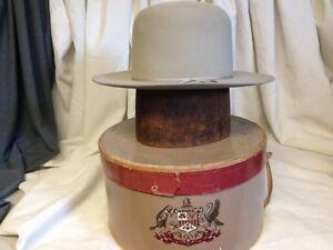 dfec18c3236 Image is loading Vintage-Stetson-3X-Beaver-DeadStock-Porters-Mens-Gray-