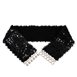 Cintura-Scintillante-fascia-della-vita-di-paillettes-elastico-da-donna-A3T7-V2D4