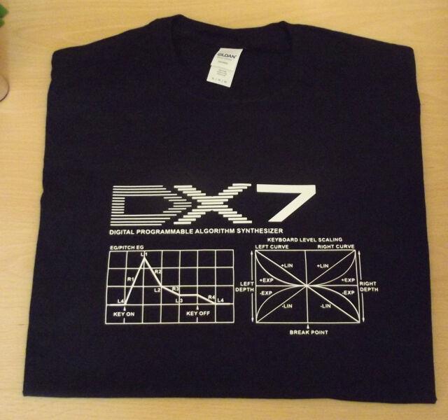 RETRO SYNTH DX7 DX DESIGN 2 ADSR  T SHIRT S M L XL XXL