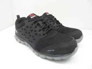 Reebok Work Women's Sublite Safety Cushion Work Shoe RB4041 Black/Grey Size 8.5M