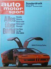 Sonderdruck Titel BMW Turbo (Alles über BMW) aus AMS 9/1976