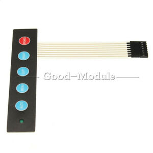 Details about LED 1x5 Matrix Array 5 Key Membrane Switch Keypad Keyboard  Menu Auto For Arduino