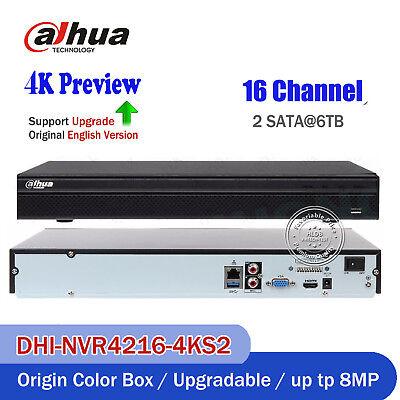 Dahua English NVR4216-4KS2 16 Channel Smart 1U Network Video Recorder NVR P2P