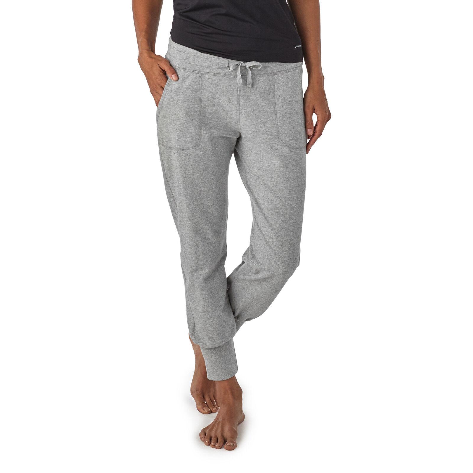 Patagonia Women's Ahnya Pants - Jersey Hose Yoga Fitness Freizeit Bio Baumwolle