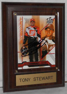 2004-TONY-STEWART-TRADING-CARD-AUTOGRAPHED-MOUNTED-READY-FOR-DISPLAY