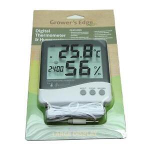 Grower/'s Edge Large Display Digital Thermometer /& Hygrometer
