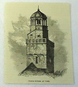 1886-magazine-engraving-CLOCK-TOWER-AT-VIRE-Normandy