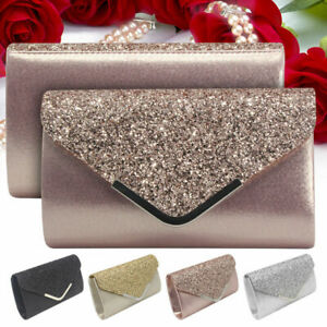 Glitter-Shiny-Women-Formal-Evening-Clutch-Bag-Ladies-Wedding-Prom-Handbag-Purse