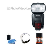 Usa Canon Speedlite 600ex-rt Shoe Mount Flash + Diffuser Kit For Canon Cameras