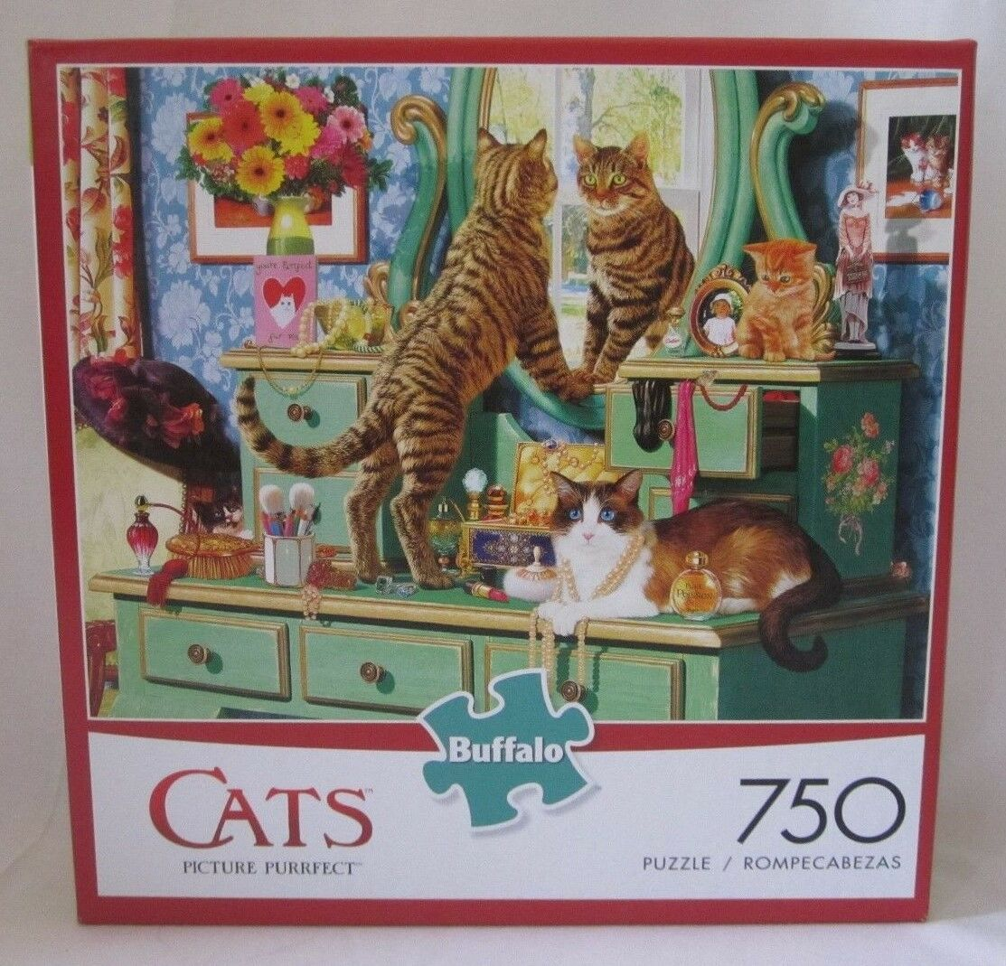 Buffalo Games 750 750 750 Piece Puzzle Cats PICTURE PURRFECT New 93f20d