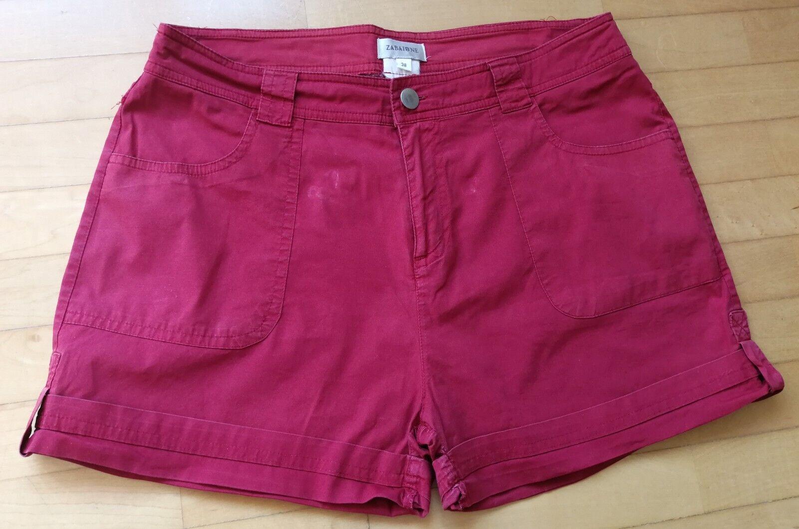 ZABAIONE - Damen Shorts - Größe 38 - rot - Sehr guter Zustand