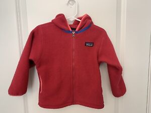 2t Patagonia Baby Synch Fleece Cardigan Hot Pink Toddler