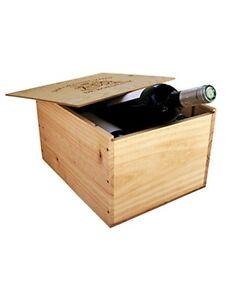 caisse bois vins 6 bouteilles avec couvercle glissi re ebay. Black Bedroom Furniture Sets. Home Design Ideas