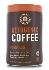 Rapid-Fire-KETOGENIC-COFFEE-Hot-or-Cold-HAZELNUT-Keto-MCT-Instant-Blend-BURN-FAT