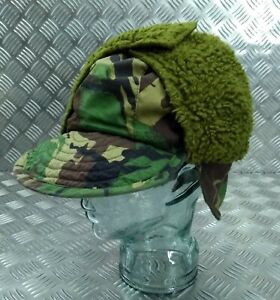 Genuine-British-ARMY-Falklands-DPM-Camo-Cold-Weather-Field-Hat-Size-58cm-FLK02