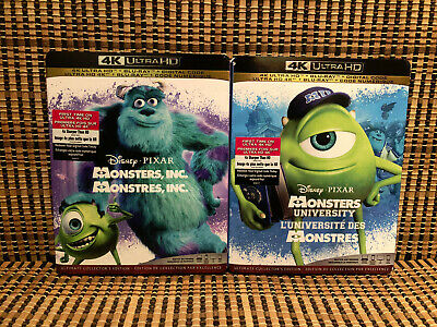 Monsters Inc University 4k 2 Disc Blu Ray 2020 Slipcovers Disney Pixar 1 2 Ebay