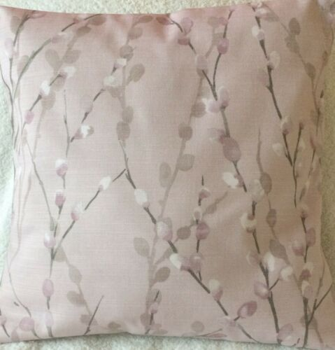 """Pair Pink Delicate Pussy Willow Handmade Cushion Covers match Next Curtains 16/"""""""