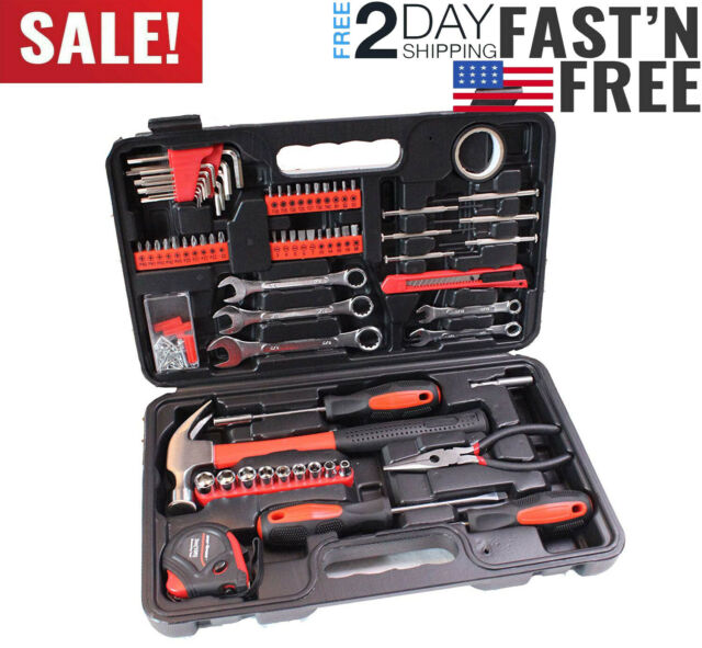 148pc Complete Hand Tool Set Kit Mechanic General Repair Wrench Home Toolbox New