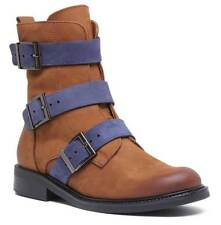 17835bbcf95a item 7 Justin Reece Womens Soft Leather Buckle Military Boot Brown Blue  Size UK 3 - 8 -Justin Reece Womens Soft Leather Buckle Military Boot Brown  Blue Size ...
