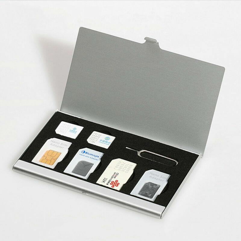 SIM Card Storage Holder with 7 Slots Micro SIM Card Holder Travel Portable Case