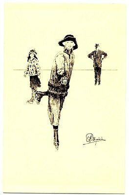 CPA Fantaisie Sports d'hiver Illustrateur Pellegrini Patinage femme postcard