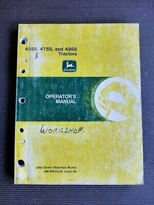 """John Deere Tractors """" 4555 ~ 4755 ~ 4955 """" Genuine 1987 Operator's Manual Manuals Media"""