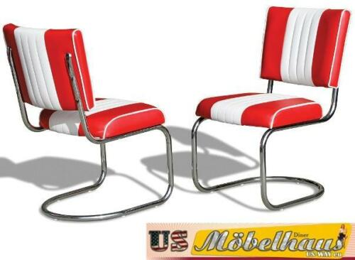 CO-27 Red Bel Air Furniture 2 Chairs Swingstuhl Diner Kitchen USA