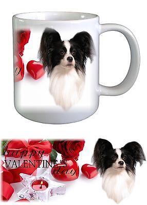 Border Collie Dog Valentines Ceramic Mug by Paws2Print