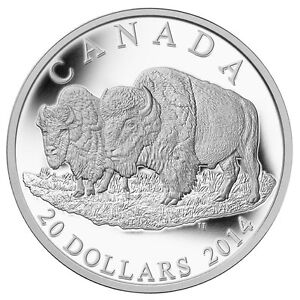 2014-Canada-20-Silver-Coin-The-Bison-The-Bull-and-His-Mate