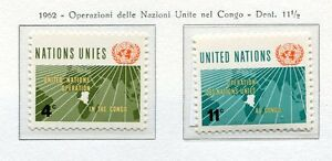 19048) UNITED NATIONS (New York) 1962 MNH** Nuovi** UNO in Congo