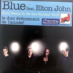 Blue-Feat-Elton-John-CD-Single-Sorry-Seems-To-Be-The-Hardest-Word-France-VG