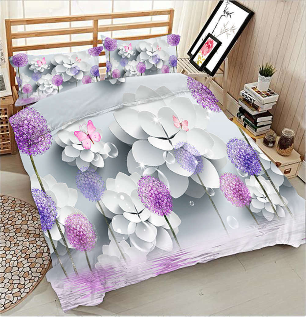 Chaste Dandelion 3D Printing Duvet Quilt Doona Covers Pillow Case Bedding Sets