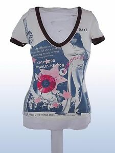 t-shirt-donna-bianco-cotone-GAS-tg-S-SMALL