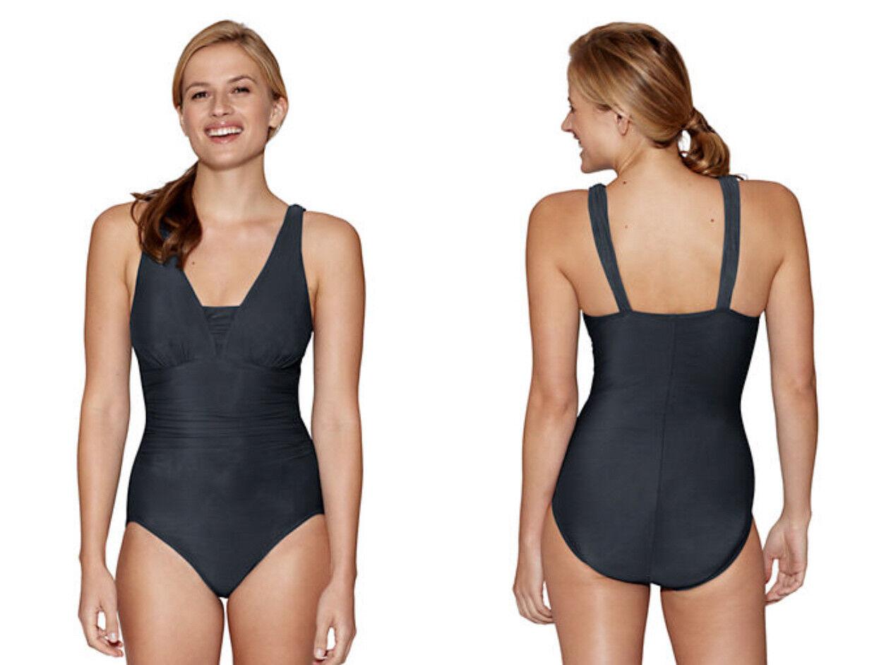 Lands' Lands' Lands' End  Grecian Slender Women's One Piece Swimsuit  92- 109 NIP 9f13f4
