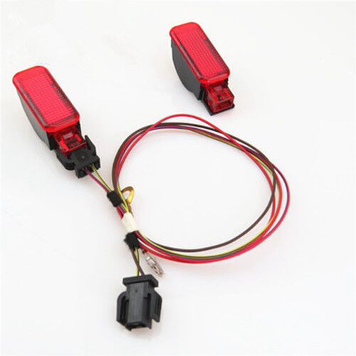 Door Panel Warning Light Cable Kit 2Pcs For AUDI A3 S3 A4 A5 A6 A7 A8 Q3 Q5 TT