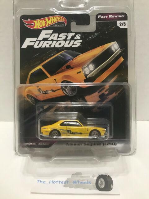 Hot Wheels 2020 Premium Fast Rewind Fast /& Furious NISSAN SKYLINE C210 2//5 yel.