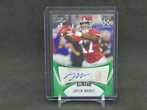 2021 LEAF SIGNATURE SERIES JAYLEN WADDLE ROOKIE RC AUTO GREEN DOLPHINS DLNH