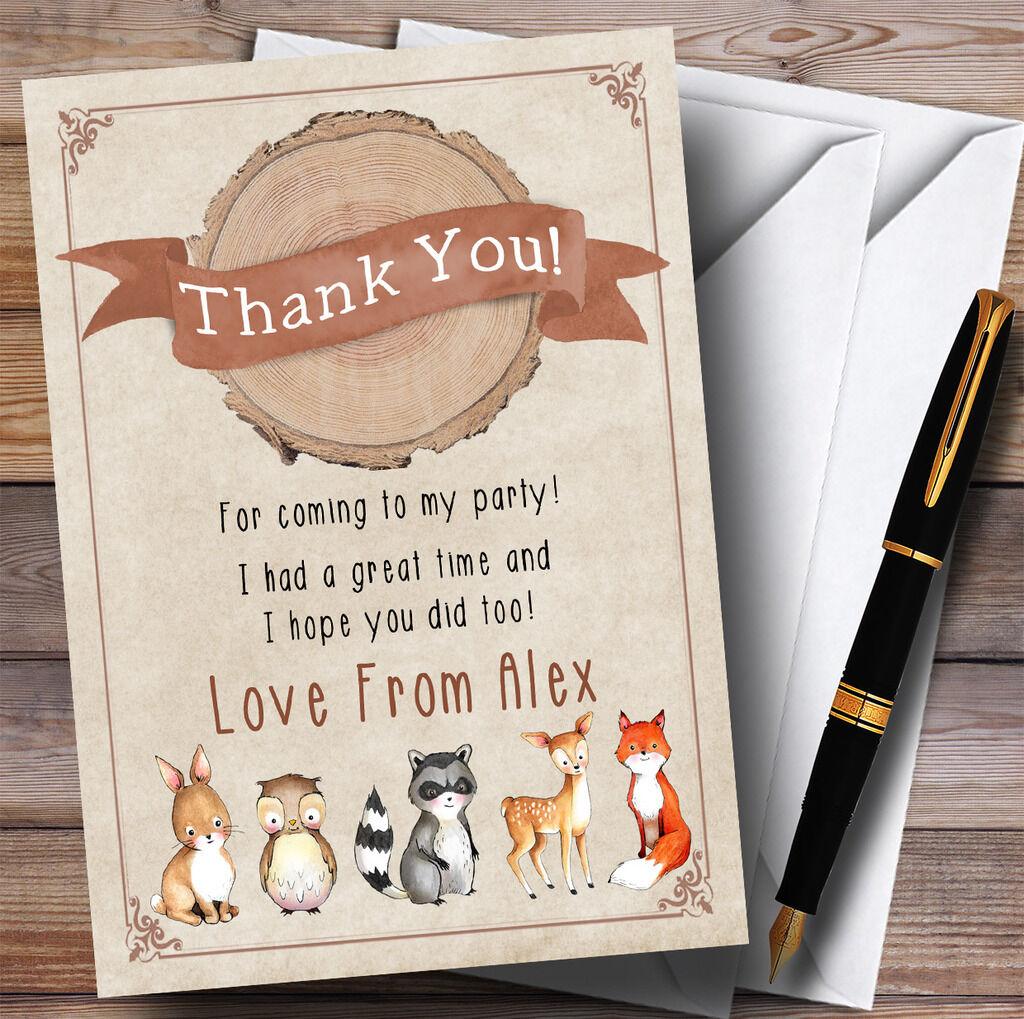 Animaux de la parti forêt de bois bébé renard parti la Merci cartes aa9395