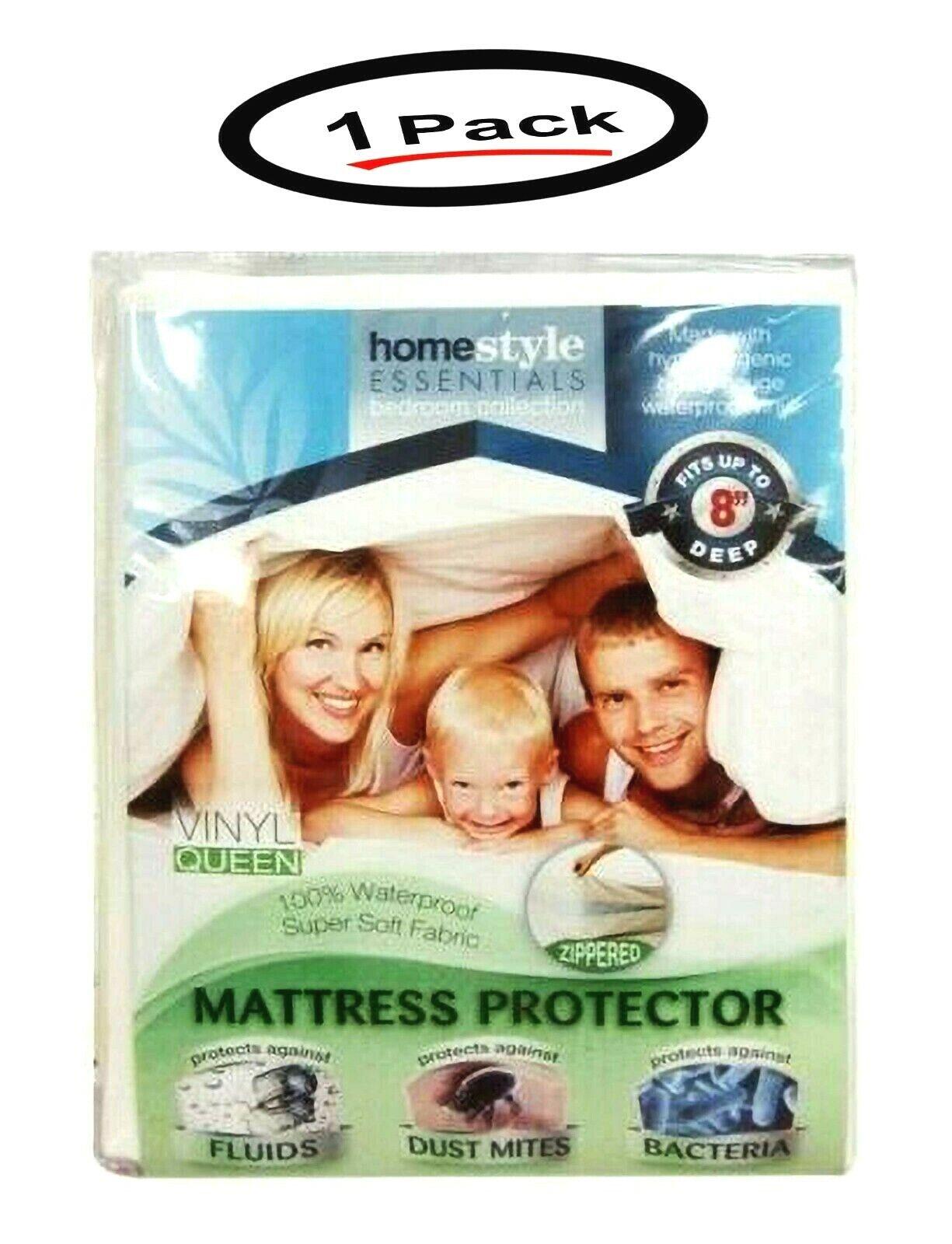 "PLASTIC SOFT VINYL MATTRESS COVER-QUEEN 9/"" HEIGHT-W//ZIPPER-NOW YOUR PROTECTED XX"