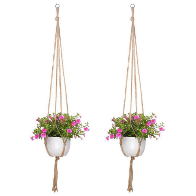 Cotton Rope Wall Hanging Basket Flower Pot Plant Stand Holder Hanger Garden Home