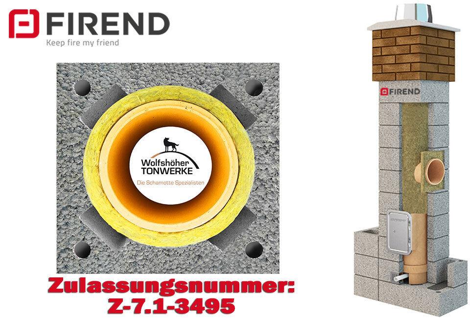 Schornstein Bausatz 6,62 m DN 20 Kamin Esse Keramik Massiv 3 schalig