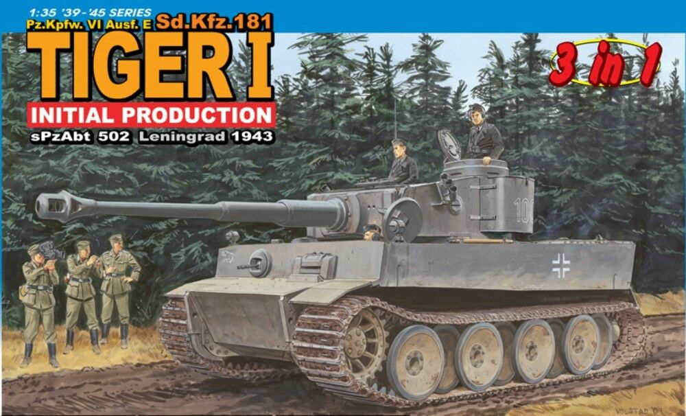 DRAGON 6252 Sd.Kfz.181 Tiger I Initial Production s.Pz.Abt.502 Leningrad 1943