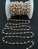 10 Feet AAA Quality Copper Pyrite Beaded Chain Pink Pyrite beads Wire Wrap Chain