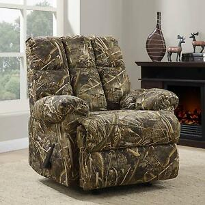 Image Is Loading Rocker Recliner Chair Rustic Camouflage Man Cave Cabin
